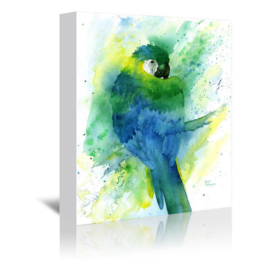 Blue Macaw by Rachel McNaughton Wrapped Canvas - Wrapped Canvas - Americanflat