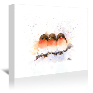 Cute Robins by Rachel McNaughton Wrapped Canvas - Wrapped Canvas - Americanflat