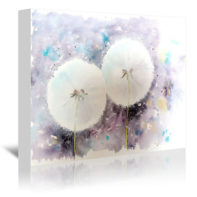 Dandelion Clocks by Rachel McNaughton Wrapped Canvas - Wrapped Canvas - Americanflat