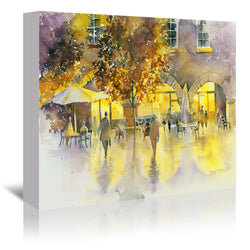 Evening Stroll by Rachel McNaughton Wrapped Canvas