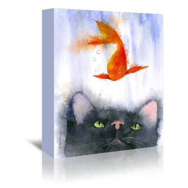 Fish Supper by Rachel McNaughton Wrapped Canvas - Wrapped Canvas - Americanflat