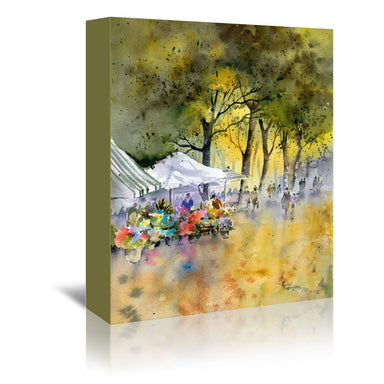 Flower Market by Rachel McNaughton Wrapped Canvas - Wrapped Canvas - Americanflat