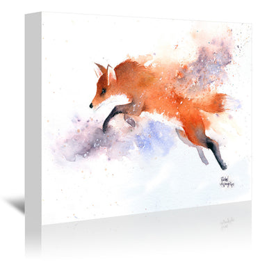 Jumping Fox by Rachel McNaughton Wrapped Canvas - Wrapped Canvas - Americanflat