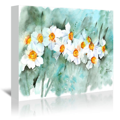 Narcissus In Line by Rachel McNaughton Wrapped Canvas - Wrapped Canvas - Americanflat