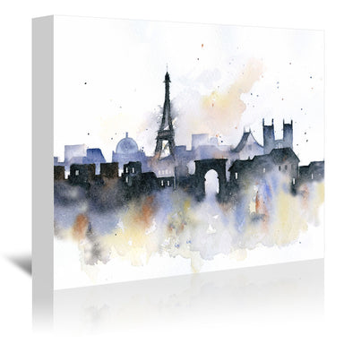 Paris by Rachel McNaughton Wrapped Canvas - Wrapped Canvas - Americanflat