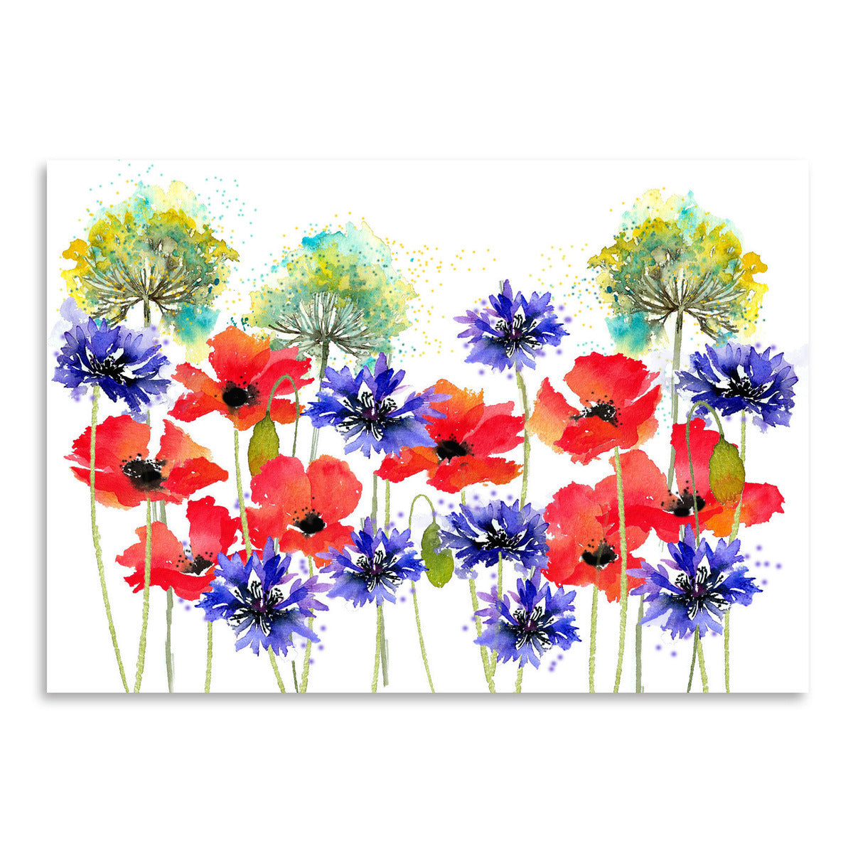 Poppies Parsley And Cornflowers by Rachel McNaughton Art Print - Art Print - Americanflat