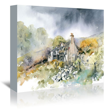 Ruined Cottage by Rachel McNaughton Wrapped Canvas - Wrapped Canvas - Americanflat