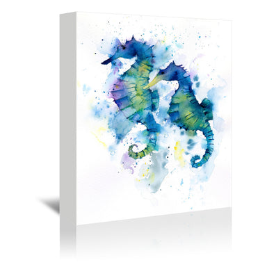 Seahorses by Rachel McNaughton Wrapped Canvas - Wrapped Canvas - Americanflat