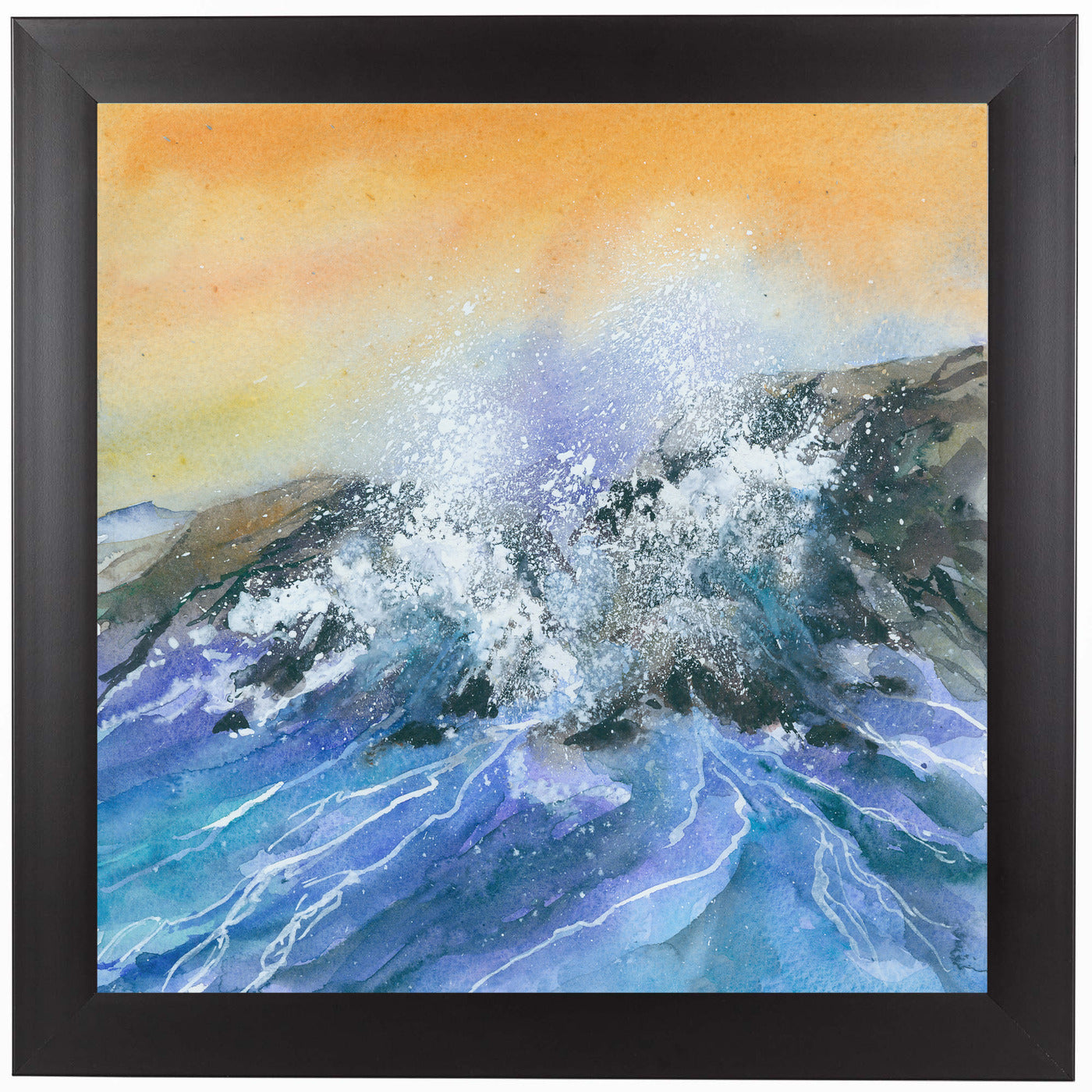 Crashing Surf by Rachel McNaughton Framed Print