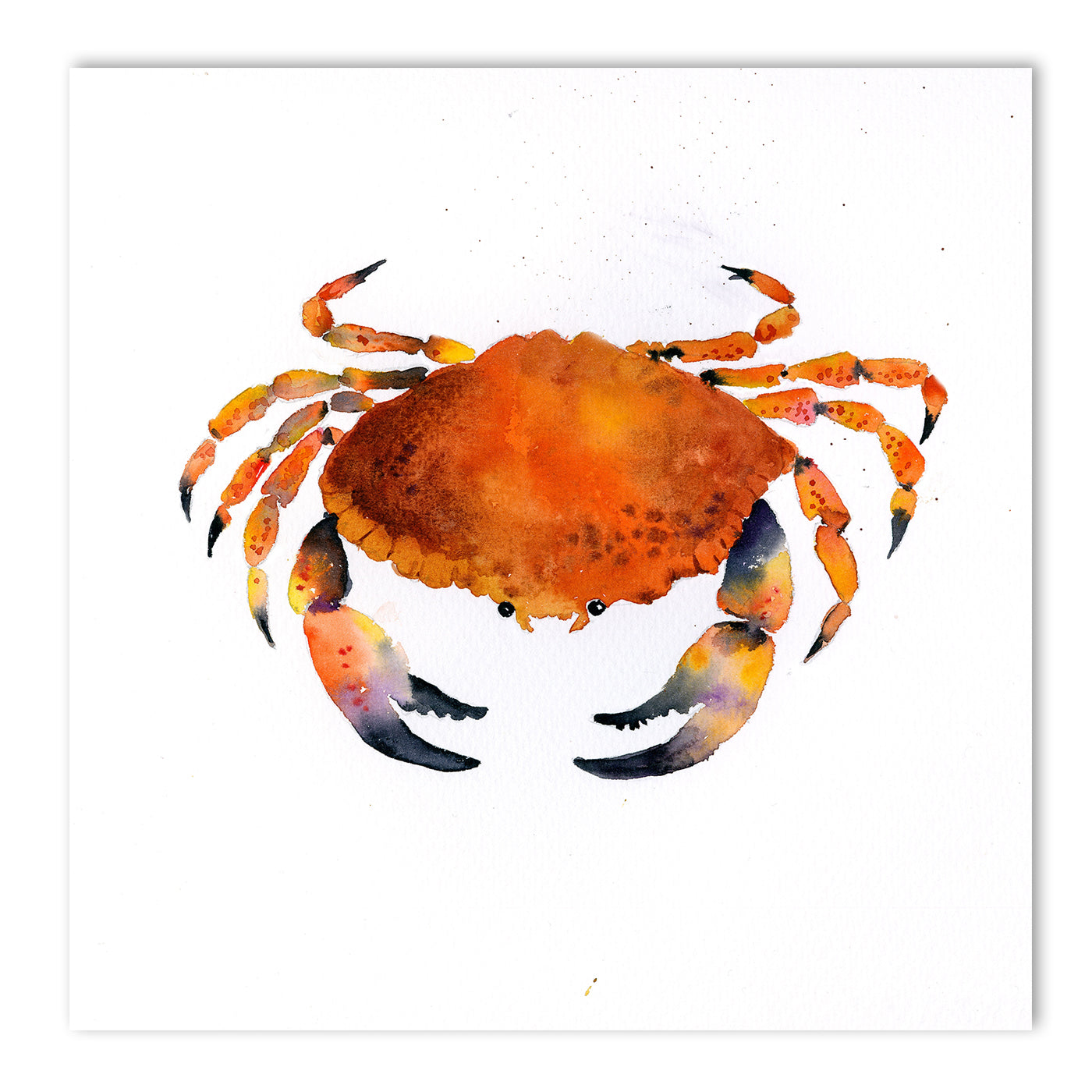 Orange Crab by Rachel McNaughton Art Print - Art Print - Americanflat