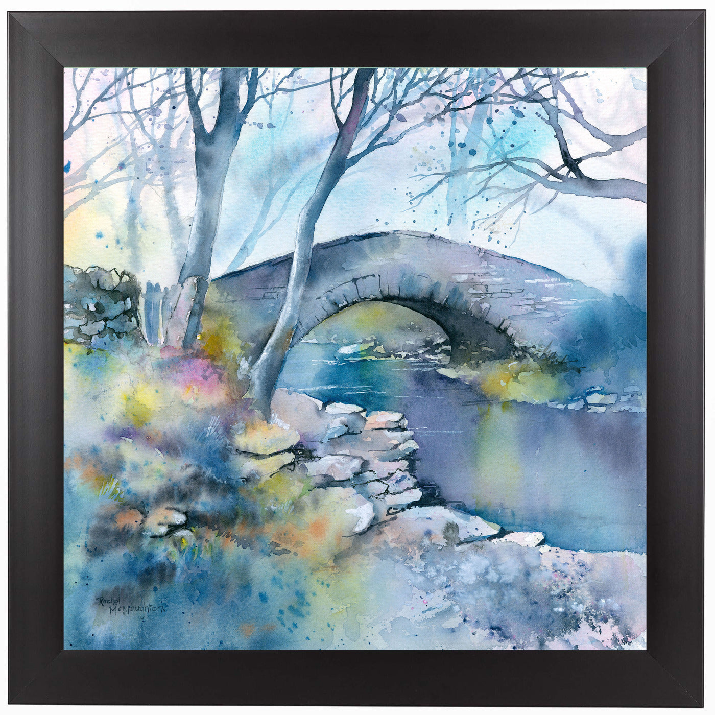 Winter Bridge by Rachel McNaughton Framed Print