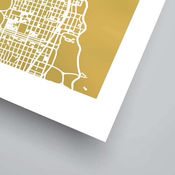 Chicago by The Gold Foil Map Company Art Print