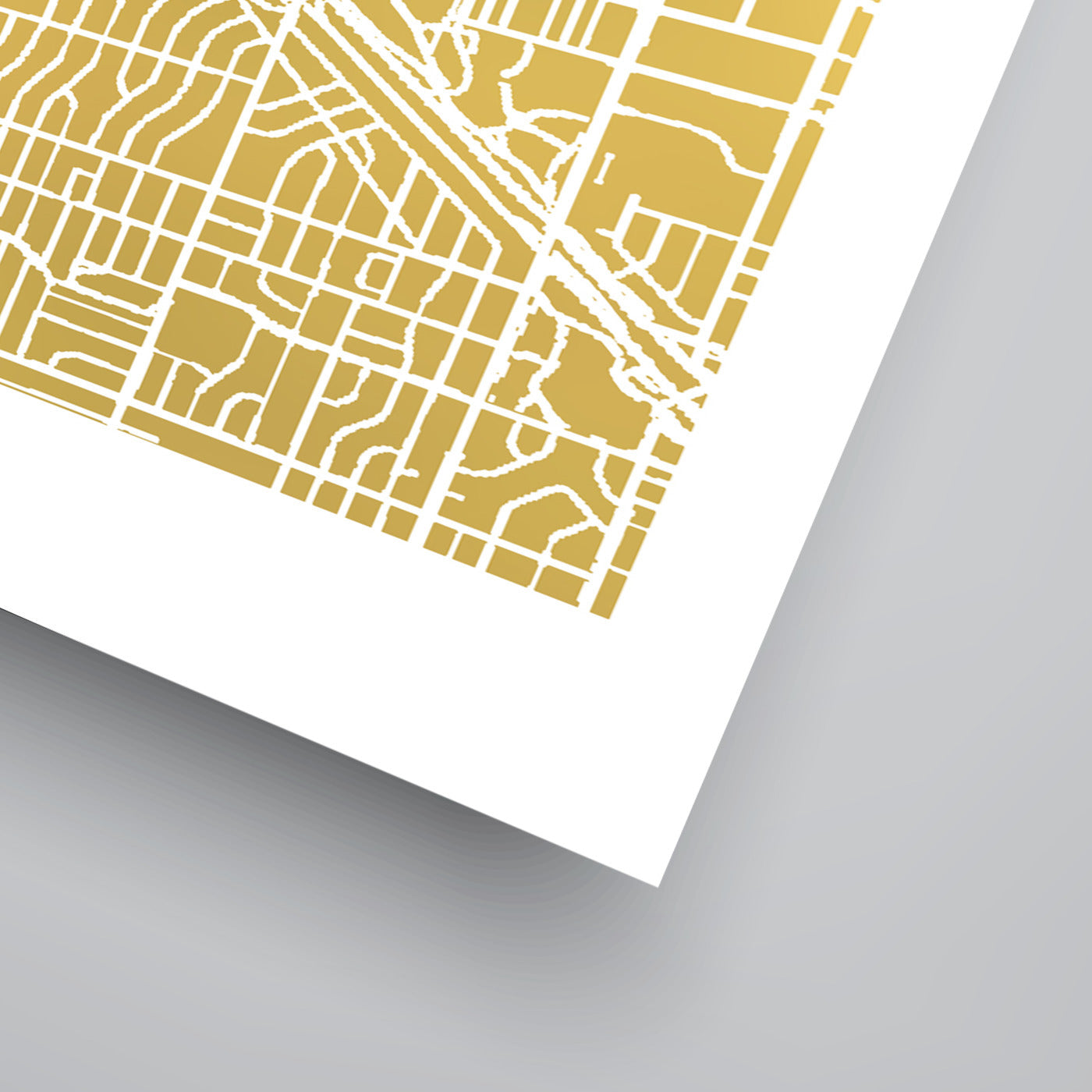 Denver by The Gold Foil Map Company Art Print - Art Print - Americanflat