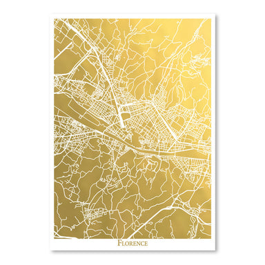 Florence by The Gold Foil Map Company Art Print - Art Print - Americanflat