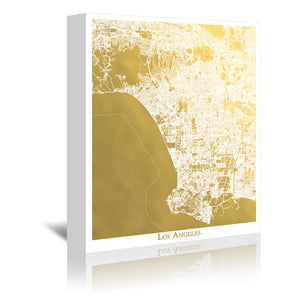Los Angeles by The Gold Foil Map Company Wrapped Canvas