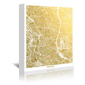 Madrid by The Gold Foil Map Company Wrapped Canvas