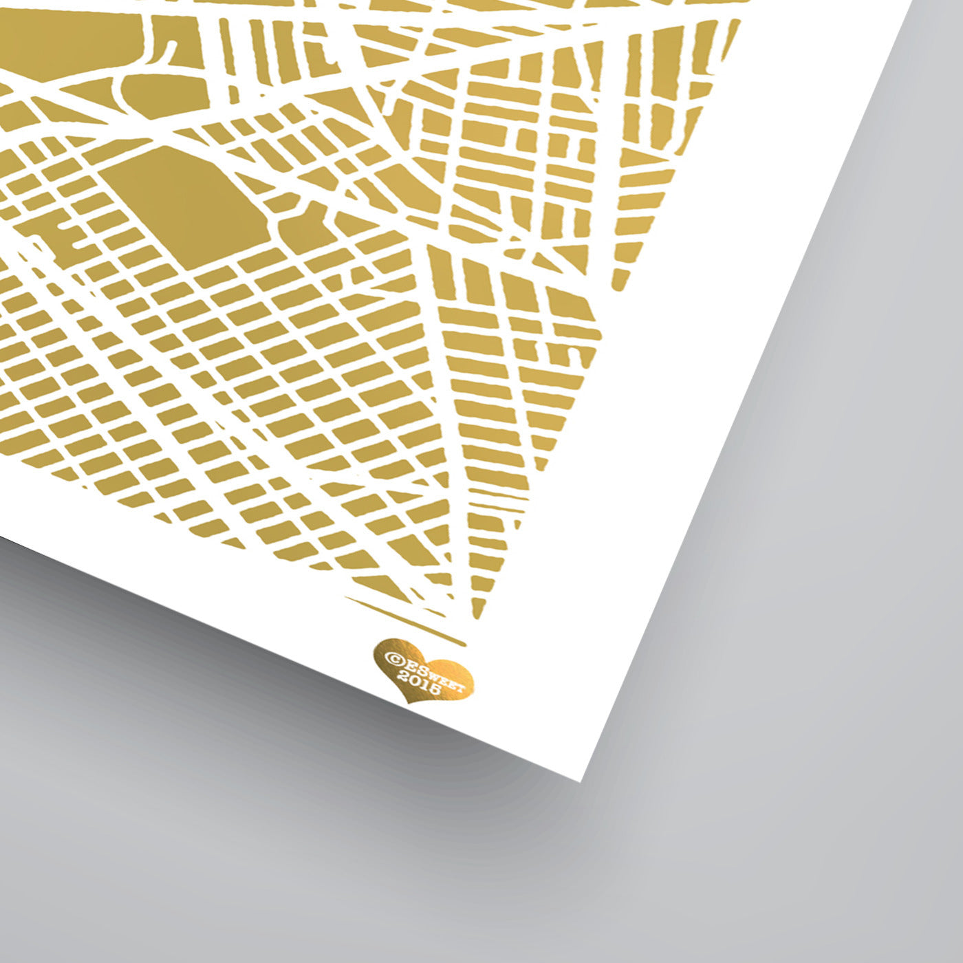 New York City 2 by The Gold Foil Map Company Art Print - Art Print - Americanflat