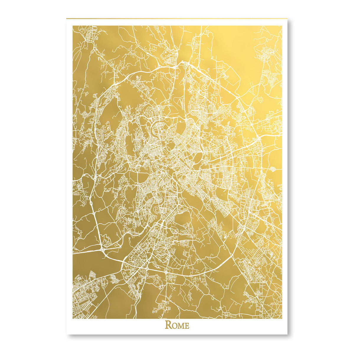 Rome by The Gold Foil Map Company Art Print - Art Print - Americanflat