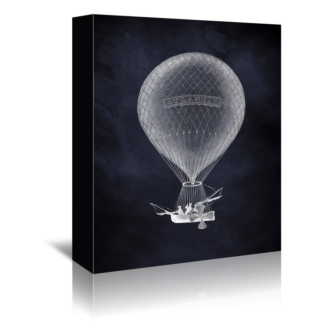 Atlantic Balloon by Coastal Print & Design Wrapped Canvas - Wrapped Canvas - Americanflat