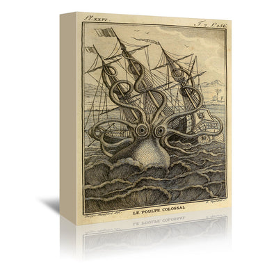 Kraken Original by Coastal Print & Design Wrapped Canvas - Wrapped Canvas - Americanflat