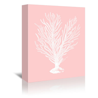 Mil Pink Finger Coral by Coastal Print & Design Wrapped Canvas - Wrapped Canvas - Americanflat