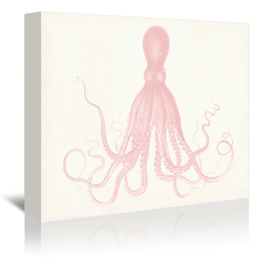 Quartz Pink Octopus by Coastal Print & Design Wrapped Canvas - Wrapped Canvas - Americanflat