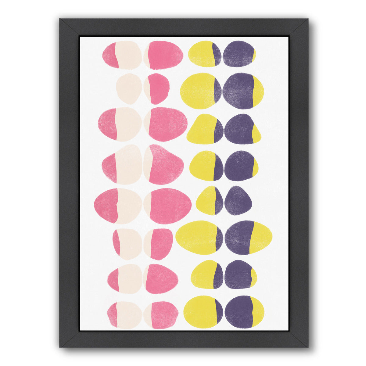 Painted Pebbles 1 by Garima Dhawan Black Framed Print - Wall Art - Americanflat