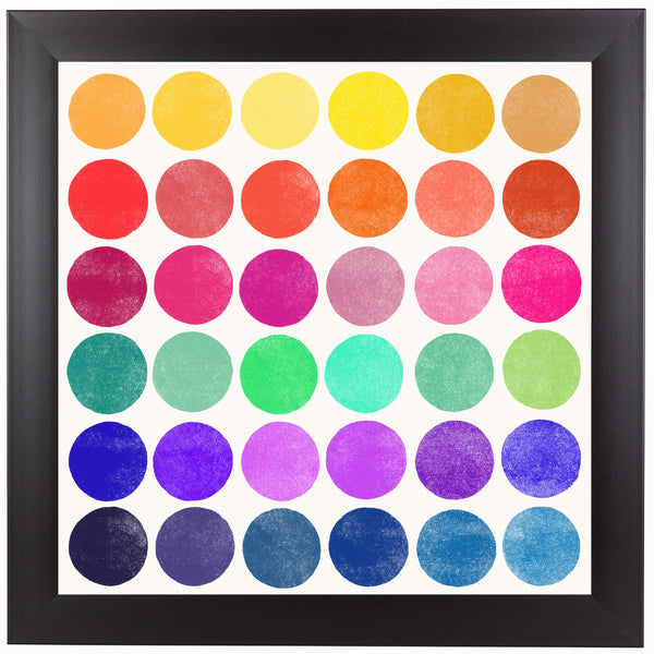 Color Play 6 by Garima Dhawan Framed Print