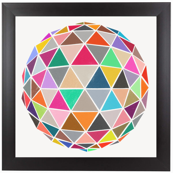 Geodesic 1 by Garima Dhawan Framed Print