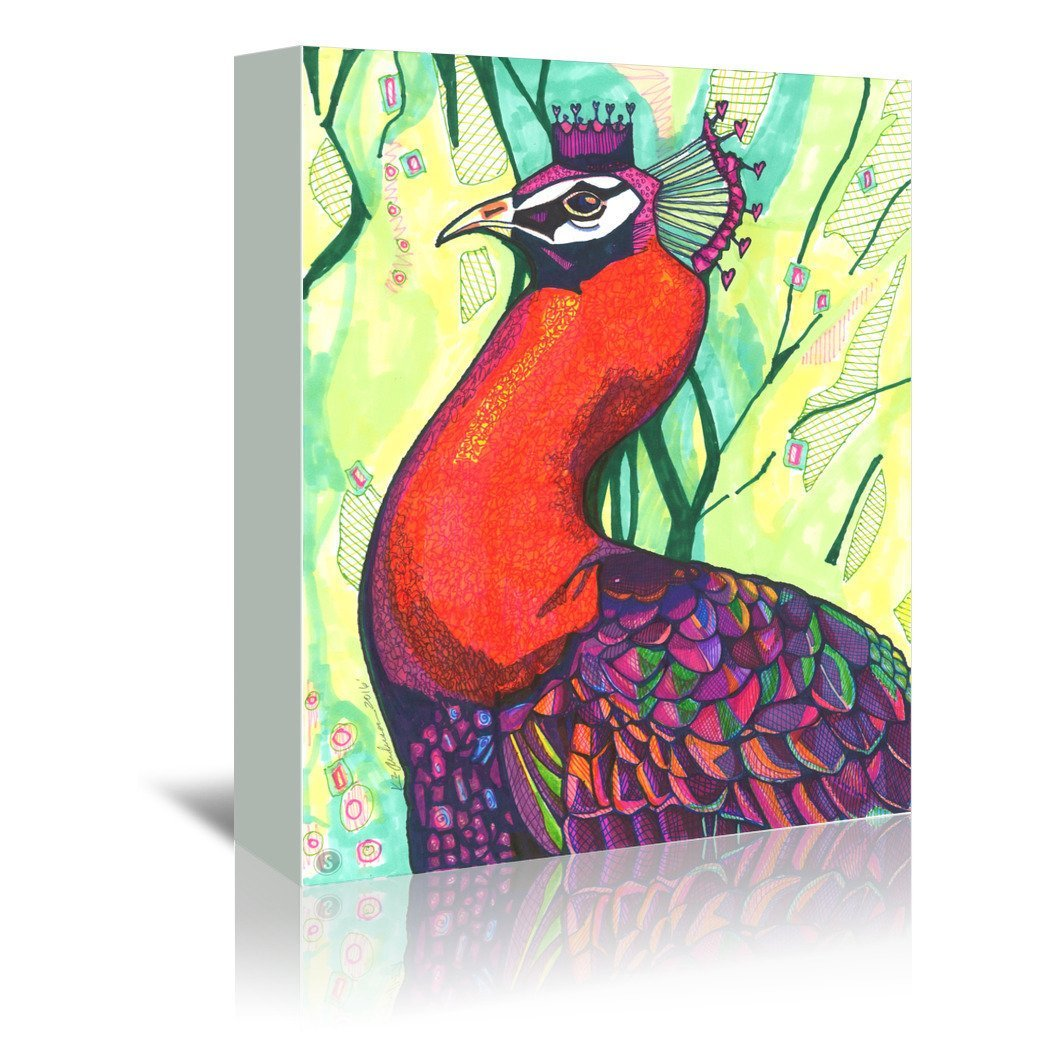 Belinda Peacock by Solveig Studio Wrapped Canvas - Wrapped Canvas - Americanflat