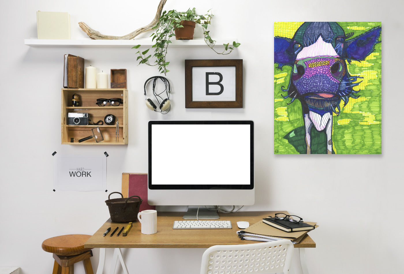 Cow In Face by Solveig Studio Wrapped Canvas - Wrapped Canvas - Americanflat