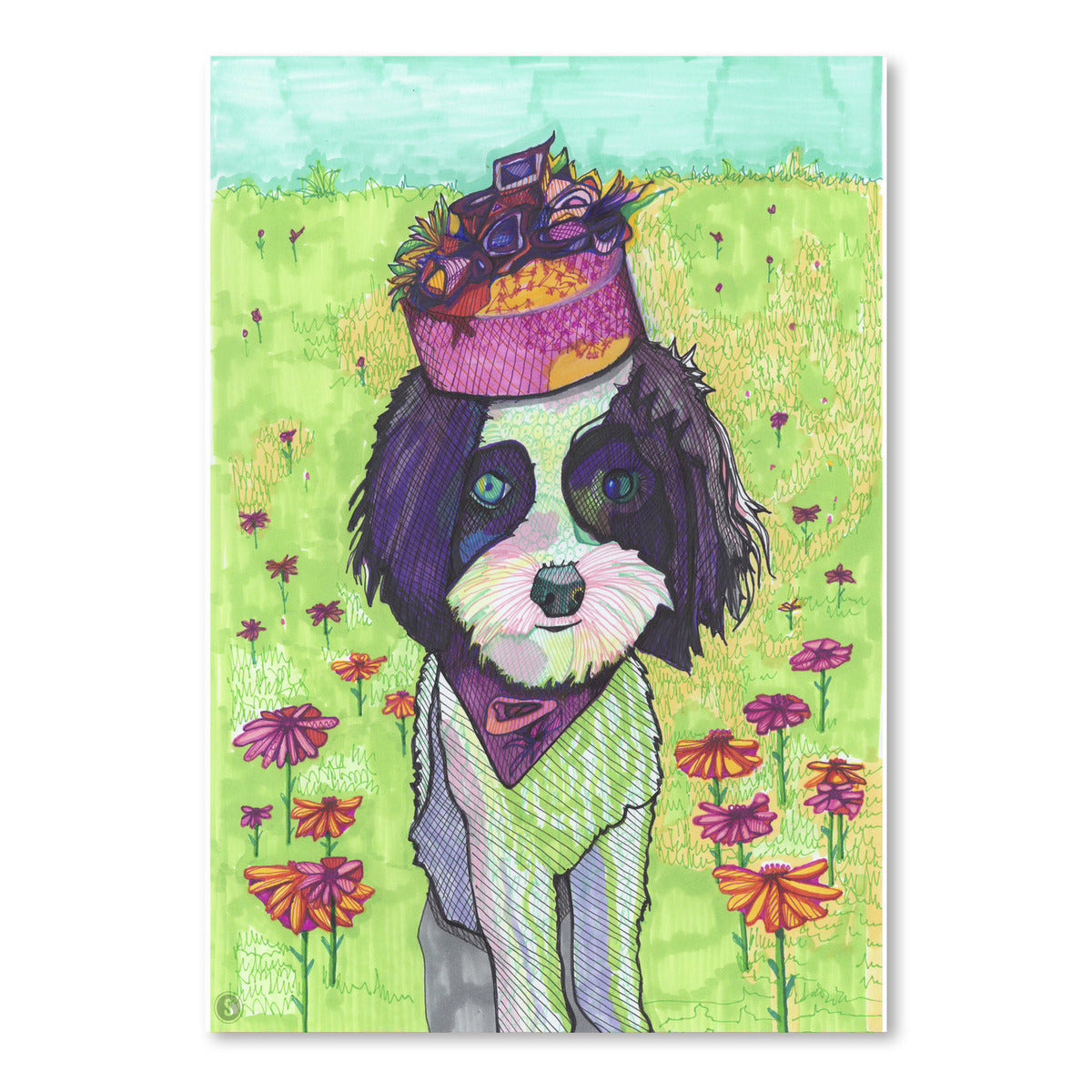 Dog With Pillbox by Solveig Studio Art Print - Art Print - Americanflat
