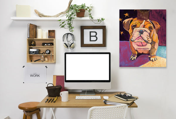 English Bull Dog Jpg by Solveig Studio Wrapped Canvas
