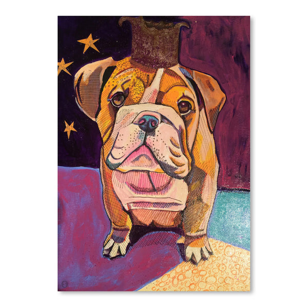 English Bull Dog Jpg by Solveig Studio Art Print