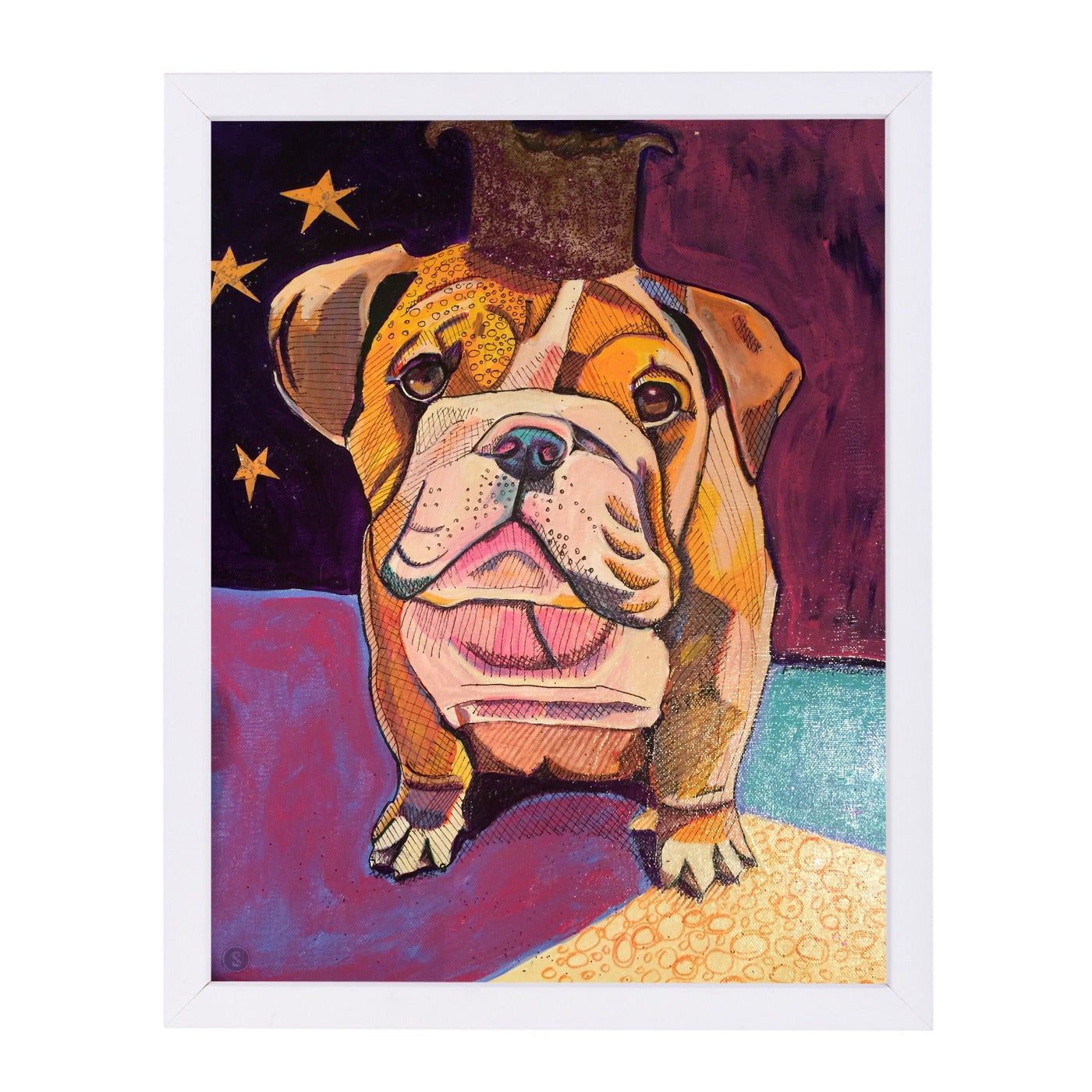 English Bull Dog Jpg by Solveig Studio Framed Print - Americanflat