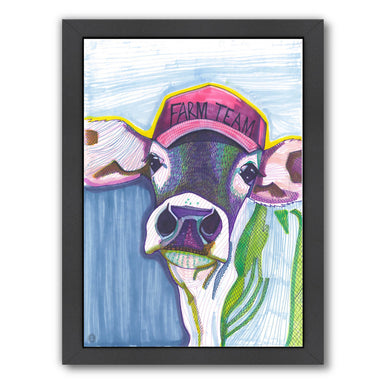 Farm Team Cow by Solveig Studio Framed Print - Americanflat