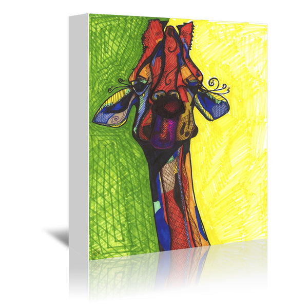Giraffe Yellow by Solveig Studio Wrapped Canvas