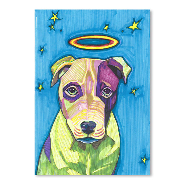 Halo Dog Pete by Solveig Studio Art Print