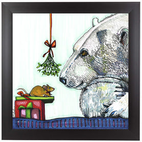 Yasmin And Karl Polar Bear And Mouse by Solveig Studio Framed Print