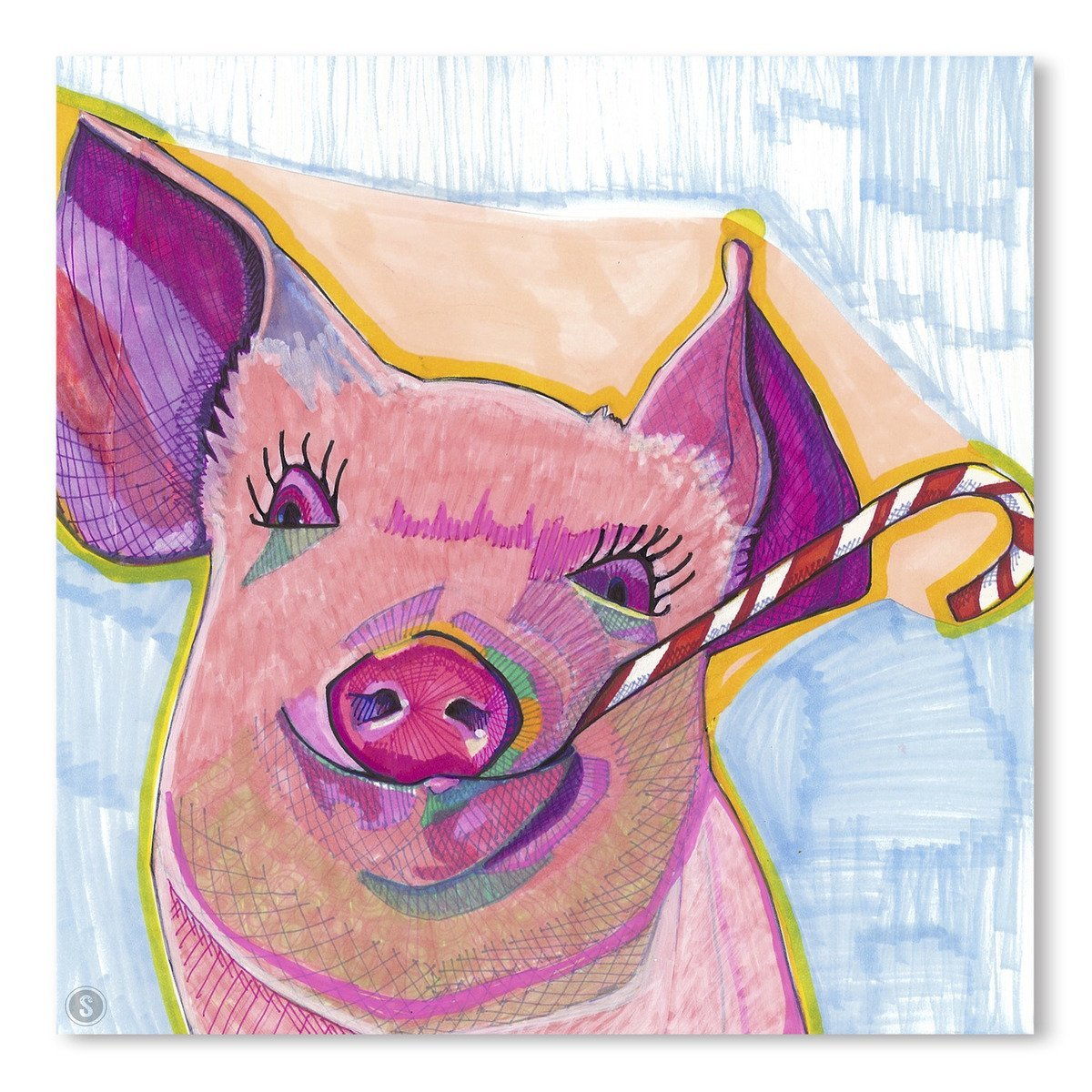 Christmas Pig by Solveig Studio Art Print - Art Print - Americanflat