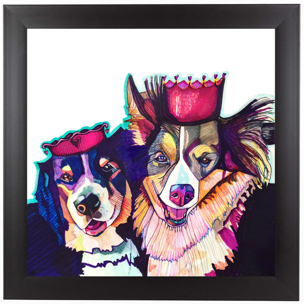 Two Dogs 2 by Solveig Studio Framed Print