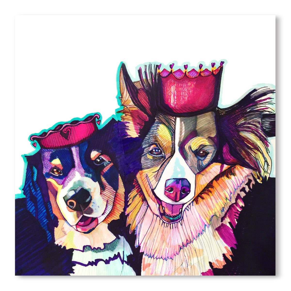Two Dogs 2 by Solveig Studio Art Print - Art Print - Americanflat