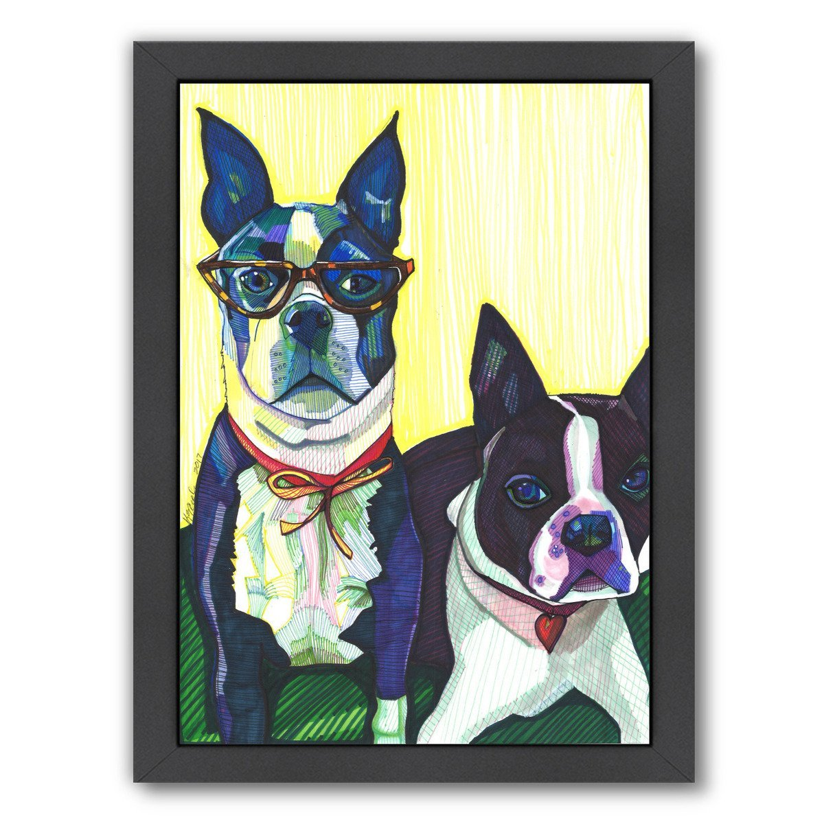 Boston Terriers by Solveig Studio Framed Print - Americanflat