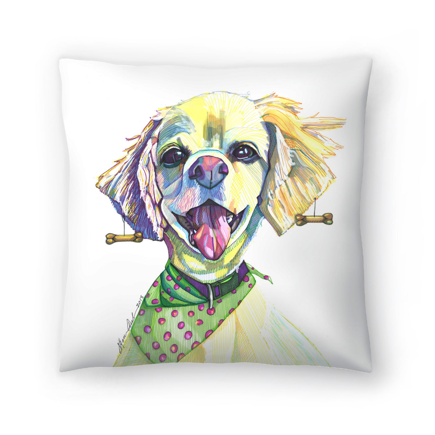 Cocker Spaniel by Solveig Studio Decorative Pillow - Decorative Pillow - Americanflat