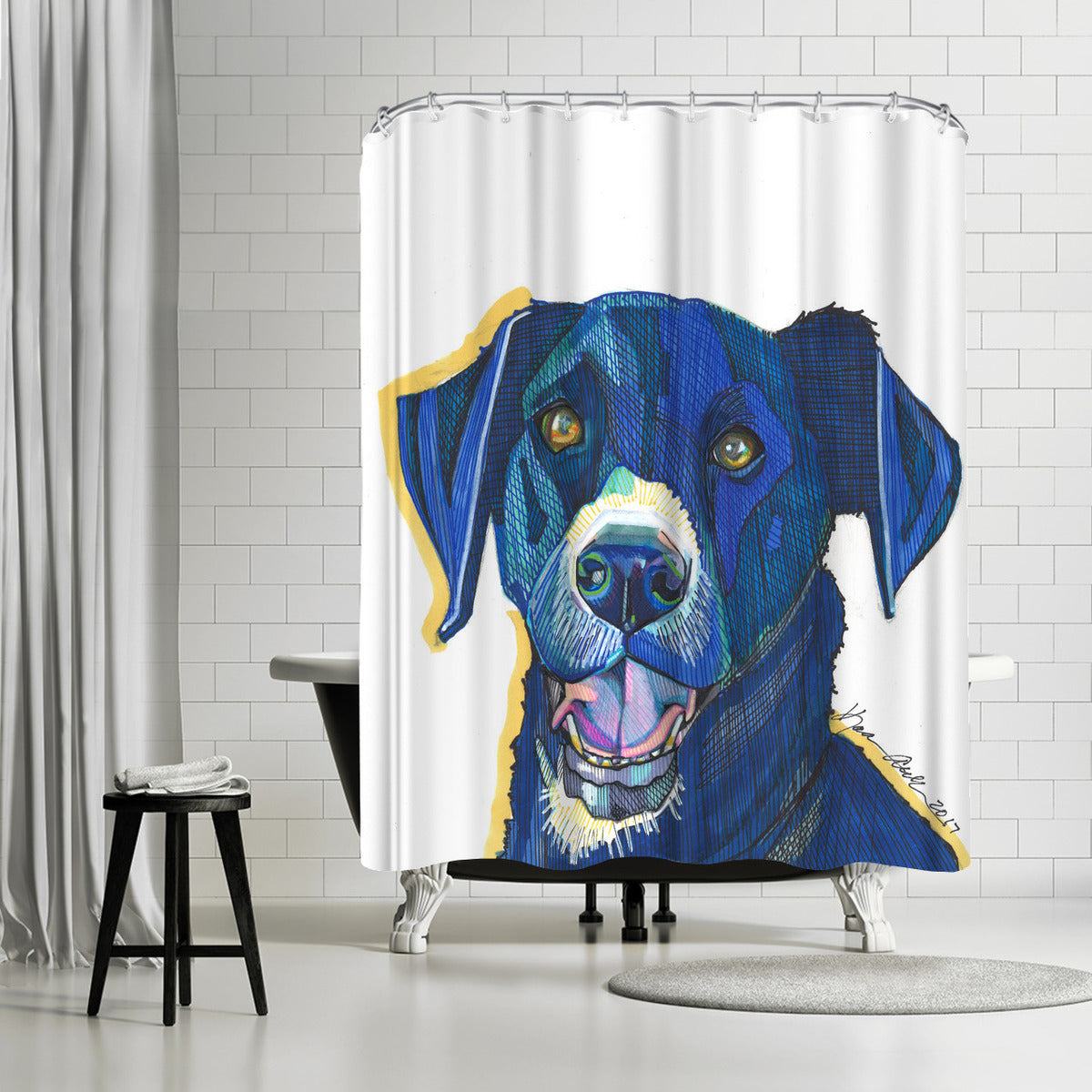 Elissa Werner by Solveig Studio Shower Curtain -  - Americanflat