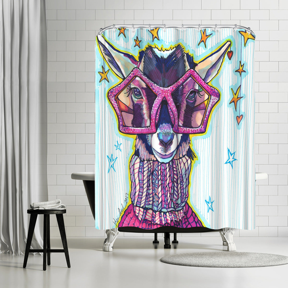 Goats Of Anarchy by Solveig Studio Shower Curtain -  - Americanflat