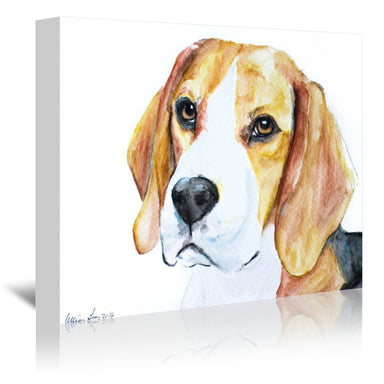 Beagle by Allison Gray Wrapped Canvas - Wrapped Canvas - Americanflat