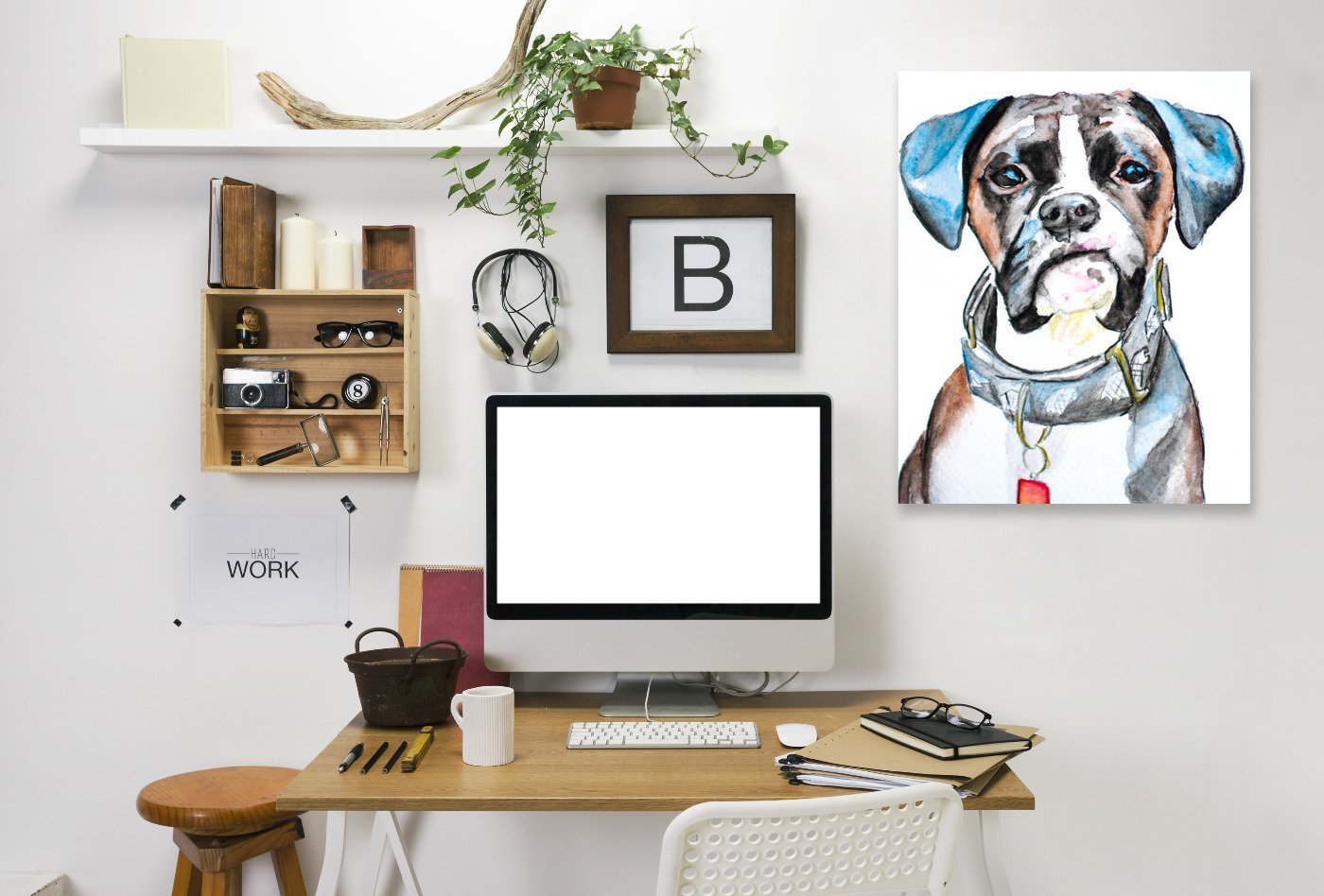 Boxer by Allison Gray Wrapped Canvas - Wrapped Canvas - Americanflat