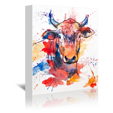 Bull by Allison Gray Wrapped Canvas - Wrapped Canvas - Americanflat