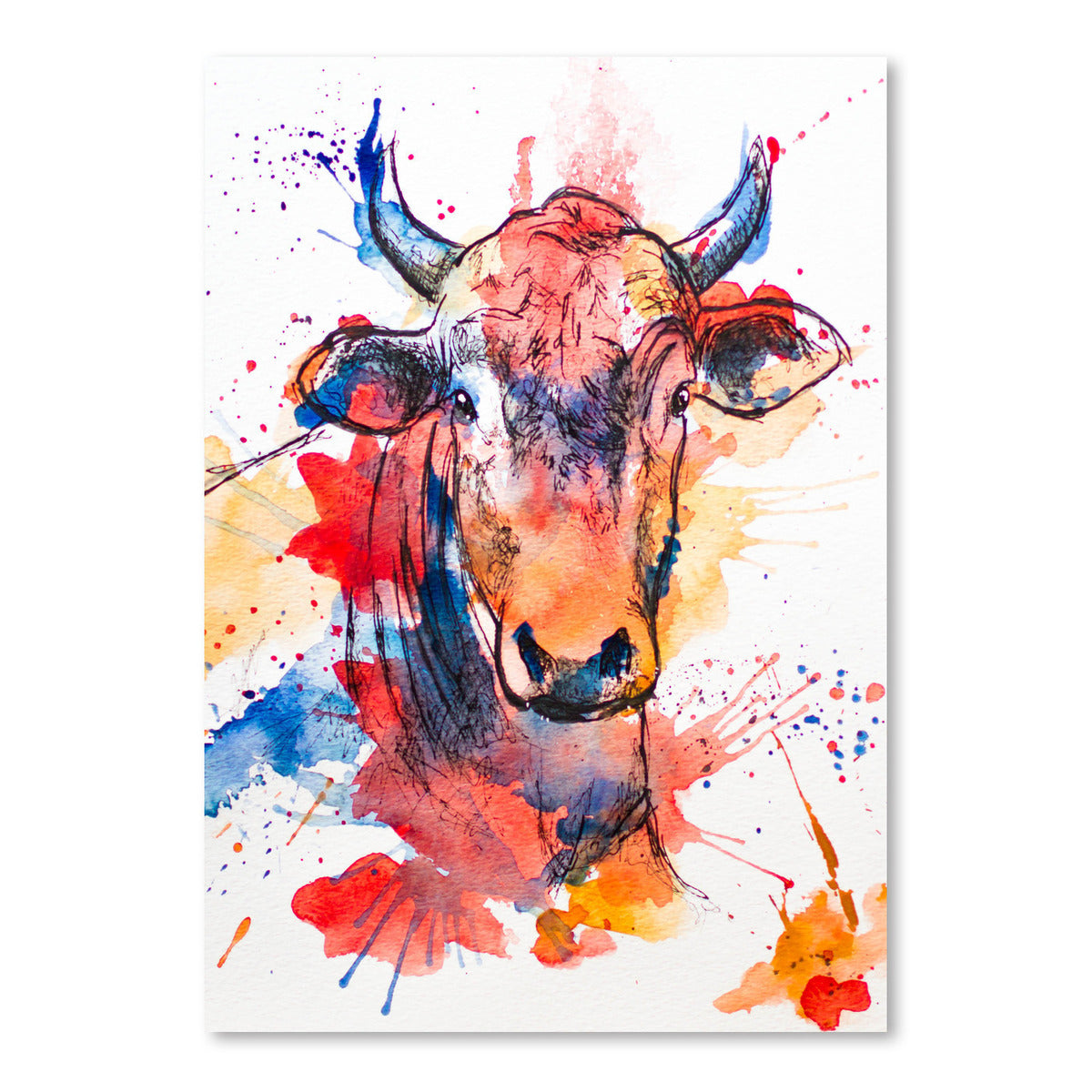 Bull by Allison Gray Art Print - Art Print - Americanflat